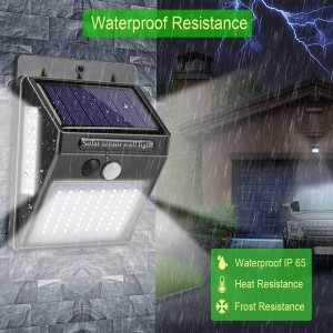 Luz solar LED impermeable con sensor de movimiento