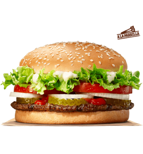 Whopper gratis en Burger King en casa