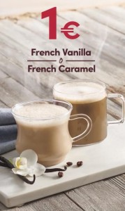 French Vanilla o French Caramel por 1€ en Tim Hortons