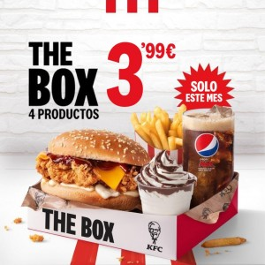 The Box de KFC: 4 productos por 3,99€