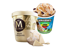 Tarrina Magnum de 440 ml + Tarrina Ben and Jerry One Love