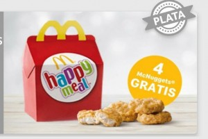 4 Nuggets GRATIS con tu menú Happy Meal
