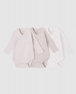 Pack de 3 bodys Cotton Juice para bebé niñas