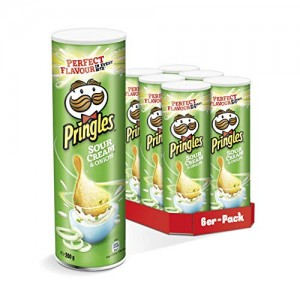 6 botes de Pringles Sour Cream & Onion por 8,34€