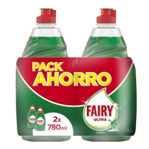 Fairy Ultra – Lavavajillas a mano concentrado 2×780 ml