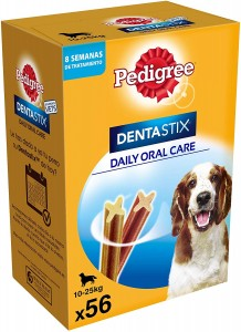 56 snacks de Pedigree Dentastix para perros medianos