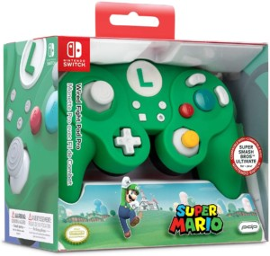 Mando Battle Pad Super Mario Luigi para Nintendo Switch
