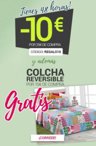 10€ de regalo + Colcha GRATIS en Magic Outlet