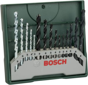 Bosch Mini X-Line – Set de 15 brocas mixto
