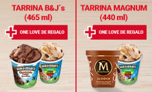 Tarrina de Helado Ben&Jerry's One Love de regalo