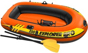 Barca hinchable Intex Explorer Pro 200 + hinchador
