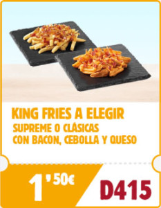 King Fries de Burger King por sólo 1,50€