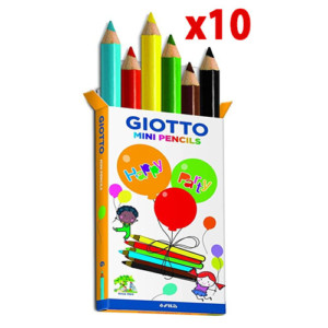 Mini lápices de colores Giotto – Pack de 10 x 6