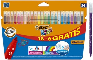 BIC Kids Kid Couleur rotuladores de punta media – Caja de 24
