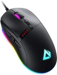 Ratón Gaming Aukey GM-F4 Knight de 10000 DPI