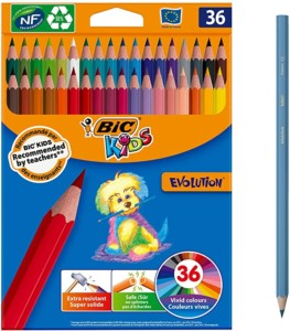 Blíster de 36 lápices de colores BIC Kids Evolution