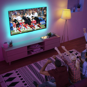 Tira LED USB RGB de 1 metro para TV y monitores