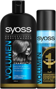 Syoss Volumen – Champú 500 ml + Acondicionador 500ml