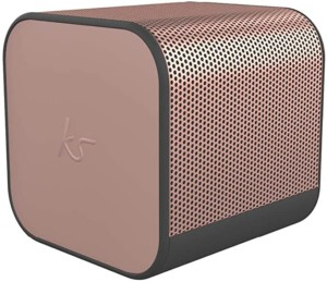 Altavoz inalámbrico KitSound Boom Cube de color rosa