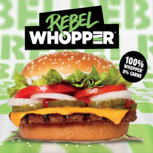 Rebel Whopper 100% vegetal por 1,99€