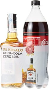 Whisky Jim Beam 700 ml + Coca Cola de 1,25 litros