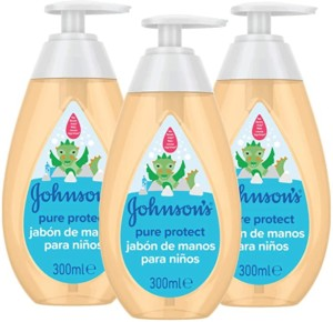 Jabón de manos Johnson's Pure Protect – Pack de 3 x 300 ml