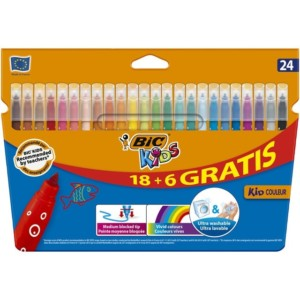 Caja de 24 rotuladores multicolor Bic Kids