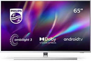 TV Philips Ambilight, Smart TV de 65 pulgadas (4K UHD, P5 Perfect Picture Engine, Dolby Vision, Dolby Atmos, Control de voz, Android TV)