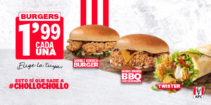 Hamburguesas Double Krunch o Twister sólo 1,99€