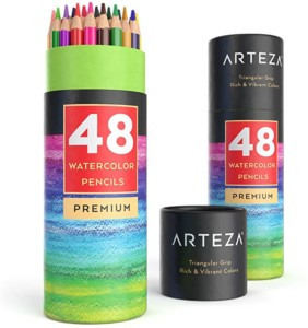 Pack de 48 lápices acuarelables multicolor Arteza
