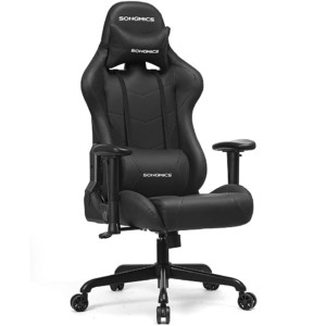Silla Gaming Racing SONGMICS con cojín lumbar