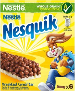 Barritas de cereales con chocolate Nesquik – Pack de 24 barritas