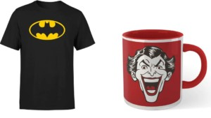 Camiseta de Batman + taza del Joker