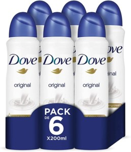 Dove Desodorante Original – Pack de 6 x 200 ml
