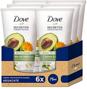 Crema de manos Dove secretos hidratantes – Pack de 6 x 75 ml
