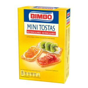Mini tostas rectangulares Bimbo – Pack de 3 x 100 gr