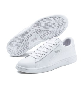 Zapatillas Puma Smash v2 L blancas
