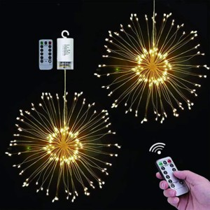 Pack de 2 luces LED con diseño de fuegos artificiales