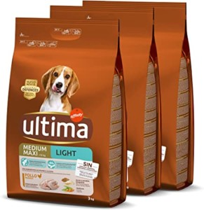 Penso para perro Ultima Medium-Maxi Light con pollo – Total 9 kg