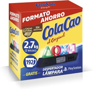 Cola Cao Original 2,7kg + Lámpara despertador PlayStation