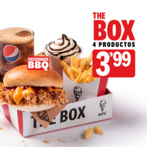 The Box KFC sólo 3,99€ incluso a domicilio