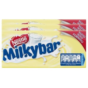 Tableta de chocolate blanco Nestlé Milkybar – Pack de 3 x 100 gr