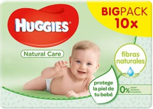 Toallitas para bebé Huggies Natural Care – 560 toallitas