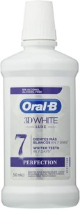 Enjuague bucal Oral-B 3D White Lux – 500 ml