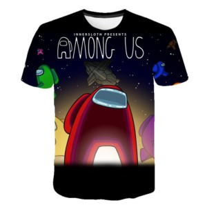 Camiseta Among Us estampado 3D para niños