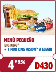 Menú pequeño Big King + helado Mini King Fusion