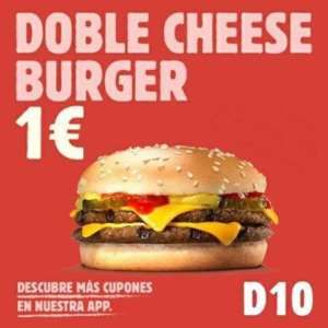 Doble Cheese Burger sólo 1€ en Burger King