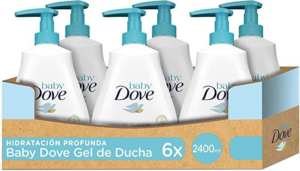 Baby Dove Gel de baño para bebé – Pack de 6 x 400 ml